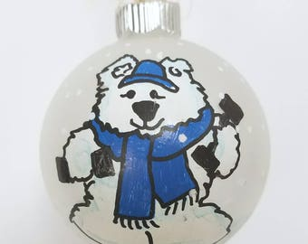 Polar Bear, Cross Fit Ornament, Exercise Ornament, Personal Trainer Ornament, Personalized Ornament, Fitness Ornament, Christmas Ornament