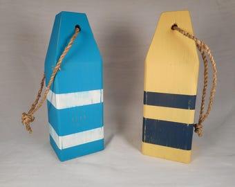 2 painted lobster buoys / beach decor / nautical decor