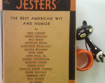 Cream of the Jesters, Best American Wit and Humor, Ogden Nash, Peter Arno, Dorothy Parker, Otto Soglow, Hardcover, Dust Jacket, Amazing Art