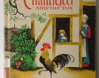 Chanticleer and the Fox, Barbara Cooney, Geoffrey Chaucer,r MCM Child Book, Color Illustrations, Fab Graphics and Colors, Read Aloud