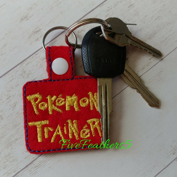Exclusive Personalized Pokemon Keychain - Backpack Tag - Pokemon Keychain - School Supplies - Gamer Gear - Best gift under 20