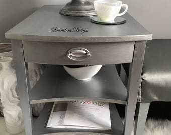 SALE/Shabby Chic Glam Mersman accent End/Side Table