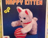 Happy Kitten wind up toy, Korea, original box, very clean, works, Christmas gift, vintage toy
