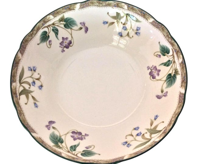 Noritake Le Parc Vegetable Bowl, China Dish Violets Scalloped Rim, Pattern 9421, Japan, Replacement Dishes