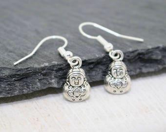 Buddha Earrings, Yoga Earrings, Zen Earrings, Zen Jewellery, Buddha Jewellery, Spiritual Jewellery, Spiritual Earrings, Yoga Lover Gift