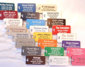 20 JUMBO Personalized Custom Engraved Luggage Tags 24 Colors to Choose From.