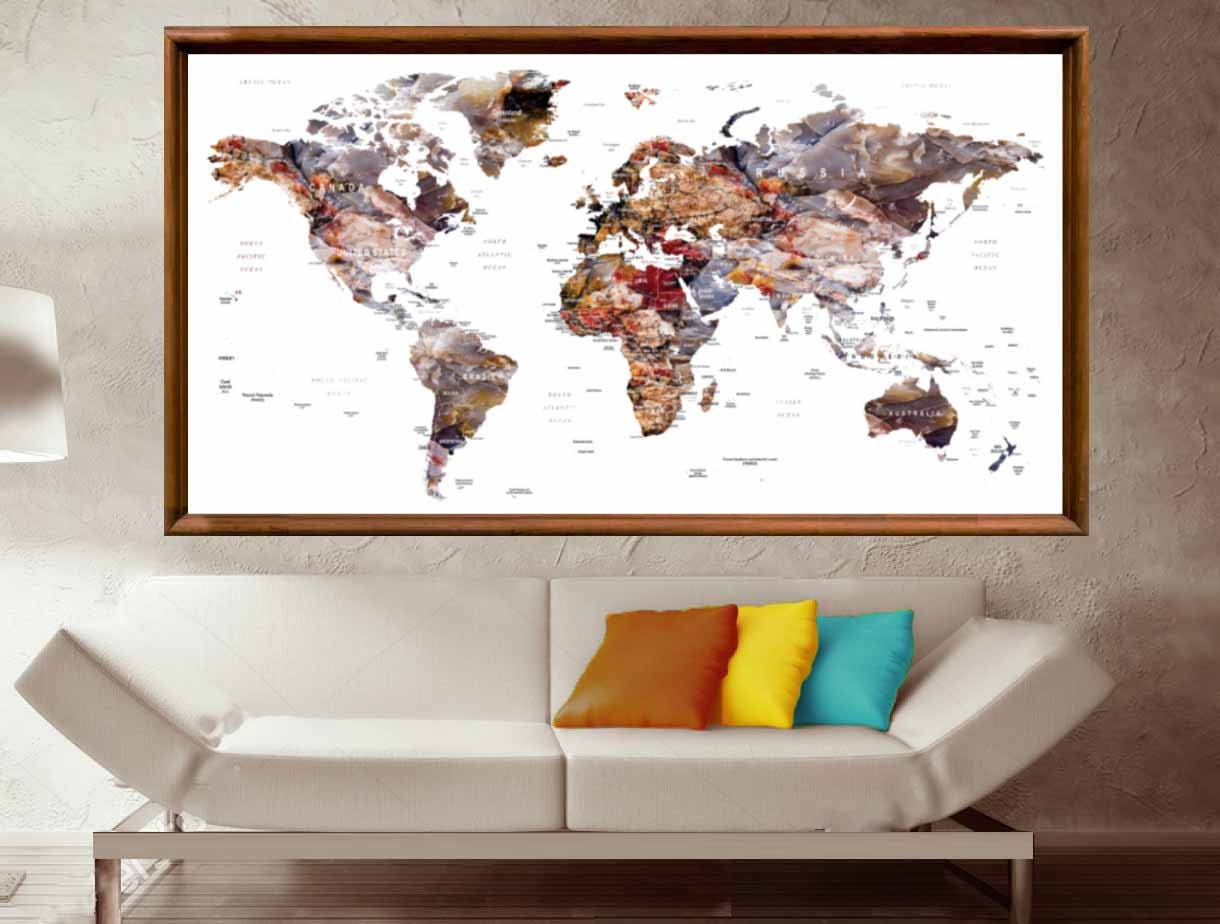 World map posterworld map wall posterworld map canvas print world map posterworld map wall posterworld map canvas printlarge world maptravel map posterpush pin world map push pin map postermap gumiabroncs Gallery