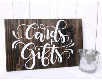 Cards and Gifts Wood Sign | Wedding Sign | Wedding Decor