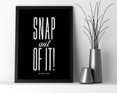 Moonstruck, Snap out of it!, Movie Quote Physical Print, Black & White, Wall Decor, 5x7, 8x10, 8.5x11, 11x14, 12x18,