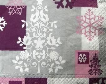 "Towel ""Purple Christmas"""
