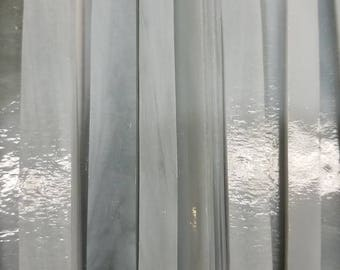 GRAY Streaky Wissmach Glass Strips for Mosaic work or art project in glass 1.5 Lbs