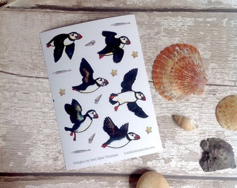 Animal stickers - Puffin stickers. Wholesale multibuy available