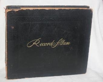 Vintage Decca Record Album with 14 Vinyl 45's Including  David Rose  Vaughn Monroe  Perry Como