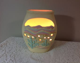 House of Lloyd Southwest Table Lamp Accent Lamp Vintage Puebla Accent Lamp Native American Lamp