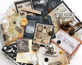Embellishment Kit / Prima The Archivist / Scrapbook Embellishment / Scrapbooking Supplies / Craft Embellishments / Junk Journal / Steampunk