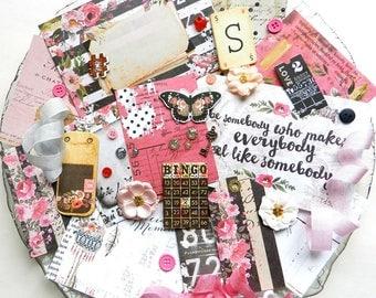 Embellishment Kit - Prima Rossibelle / Inspiration kit / Scrapbook Embellishments / Junk Journal Kit / Prima Flowers / New Prima / Vintage
