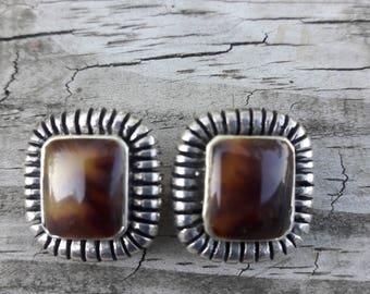Clip On Sterling Silver Earrings