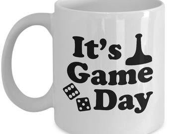 Board Game Day Funny Mug Gift Gamer Gaming Games Tabletop Dice Sarcastic Coffee Cup