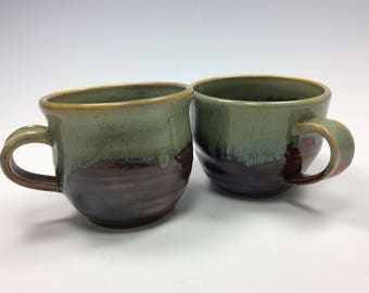 Pair of Handmade Stoneware Mugs