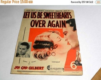 ON SALE Let Us Be Sweethearts Over Again
