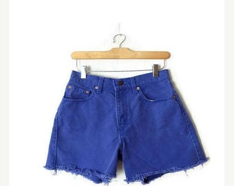 ON SALE Vintage LEVI'S  Blue Denim Cut Off Shorts from 80's*