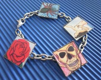 Loteria Bracelet-/ Birthday / Halloween / Dia De Los Muertos / Gift / Bracelet