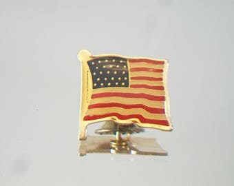 American Flag Lapel Pin Patriotic Tie Tack Fourth of July Veteran's Day Memorial Day Flag Day