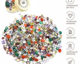 100 Cts Mixed Gem Natural Loose Gemstone Mix Lot Wholesale Loose Mixed Gemstones Loose Natural Wholesale Gems (MX-60001)