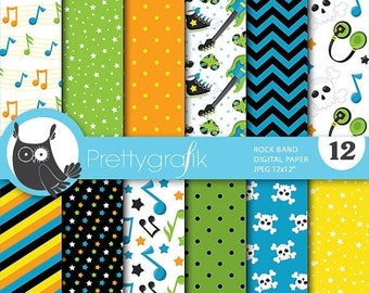 80% OFF SALE Rock star digital papers, commercial use, scrapbook papers, background, - PS697