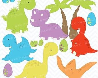 80% OFF SALE dinosaur clipart commercial use, vector graphics, digital clip art, digital images  - CL452