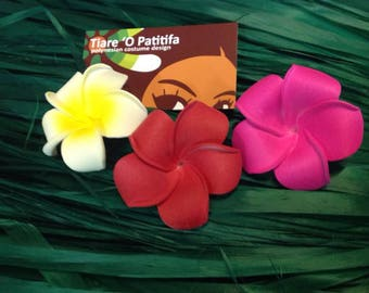 Moana Flowers With Rubber Band Or Hair Clip. Perfect For Children & Adult. Please Choose Your Color.  Birthday Party,Beach Weddings, Gifts.