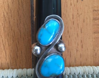 Unusual Turquoise Native American Ring