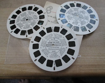 Vintage, Antique Viewmaster reels - Winnie the Pooh Reels 1-2-3 . - No longer produced - from collection of over 100 reels.