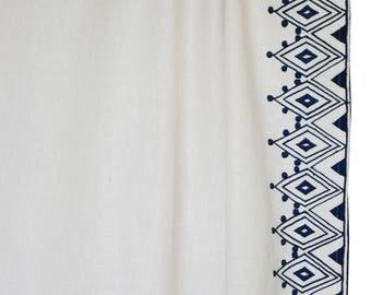 Linen Curtain, Custom Curtains, Moroccan Embroidery Curtain Panels,  Housewarming Gift, Window Curtain
