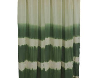 green color block cotton curtains window treatment bedroom decor sheer curtain window