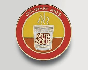 Culinary Arts Enamel Pin - Undervalued Achievement Pin - Funny Enamel Pin - Badge - Funny Stocking Stuffer