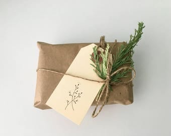Gift tags - tiny floral