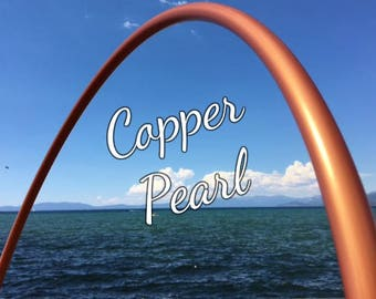 "Copper Pearl Colored 5/8"" or 3/4"" PolyPro Hula Hoop - You pick the size - by Colorado Hula Hoops"