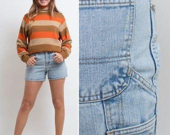 Sale Vintage HIGH WAISTED 80s Breaker short denim JEAN shorts blue vintage denim jean summer shorts