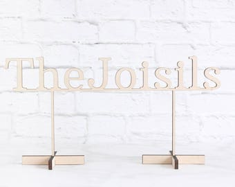 Wood Wedding Sign, Personalized Wedding Sign, Last Name Sign, Custom Wood Wedding Sign, Laser Cut Wedding Sign, Sweetheart Table Sign