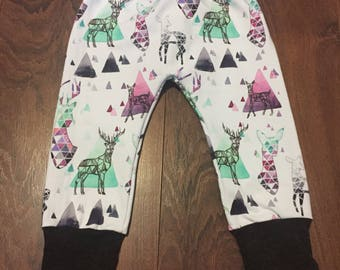 Geometric Deer Grow Harem Mountain Bunny Bottom Grow With Me Pant