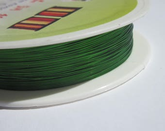 1 meter to 0,30 green colored brass wire (1).