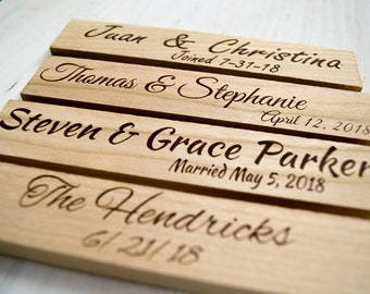 Wedding Table Decorations - Beautiful Engraved Cherry Wood - Choose A Template, Or We'll Match Your Existing Designs