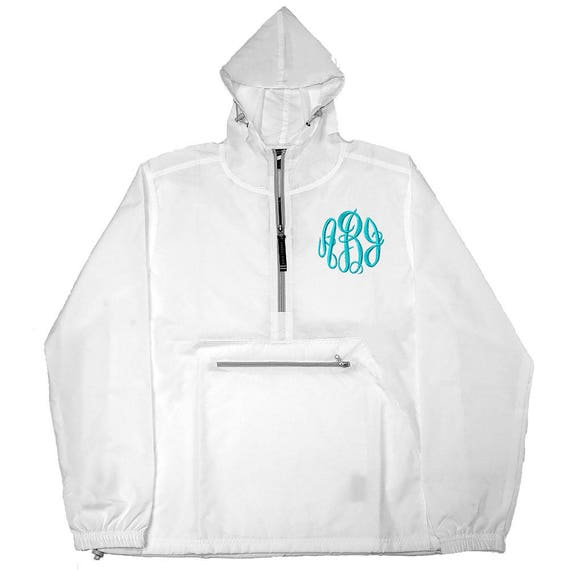 Monogram Rain Jacket Preppy Windbreaker Pack N Go Monogram