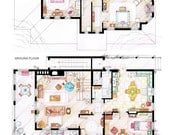 Floorplans of the house from GILMORE GIRLS