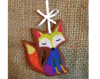 Fox Decoration. 'Foxy Lady' or Own Personalisation. Colourful and Quirky Hanging Decoration