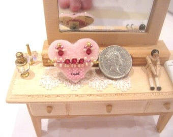 Dollhouse crystal bracelet and earring set shop jewelry display 12th scale miniature