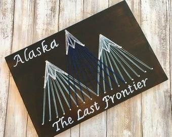 Alaska - The Last Frontier - String Art - Painting - Wall Decor - Hanging