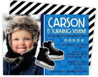 Ice Skating Birthday Invitation, Ice Skating Party, Ice Skating Invitation, Ice Skating Invite, Ice Skating Party Invitations, Skate | 370
