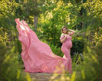 Angelina Gown • Slim Fit Gown • Mermaid Style Maternity Gown • Maternity Photo Shoot Gown • Event Gown • Wedding Dress